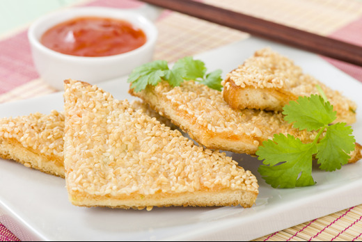 Sesame Prawn on Toast - Best Chinese Takeaway in Tooting Graveney SW17