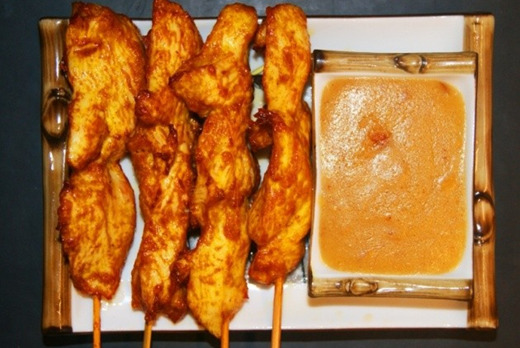 Chicken Satay on Skewers - Xin's House Delivery in Putney Heath SW15