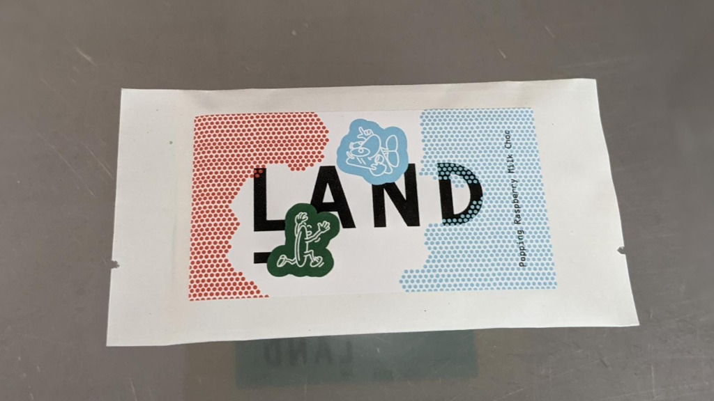 The Land Popping Raspberry Milk Chocolate Bar - Cold Cuts Delivery in Canonbury N1